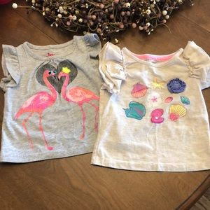 🌺 Spring/Summer Girl Shirts - 12Months!!